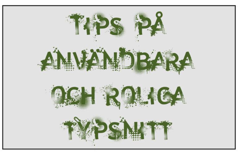 Tips på typsnitt – 1