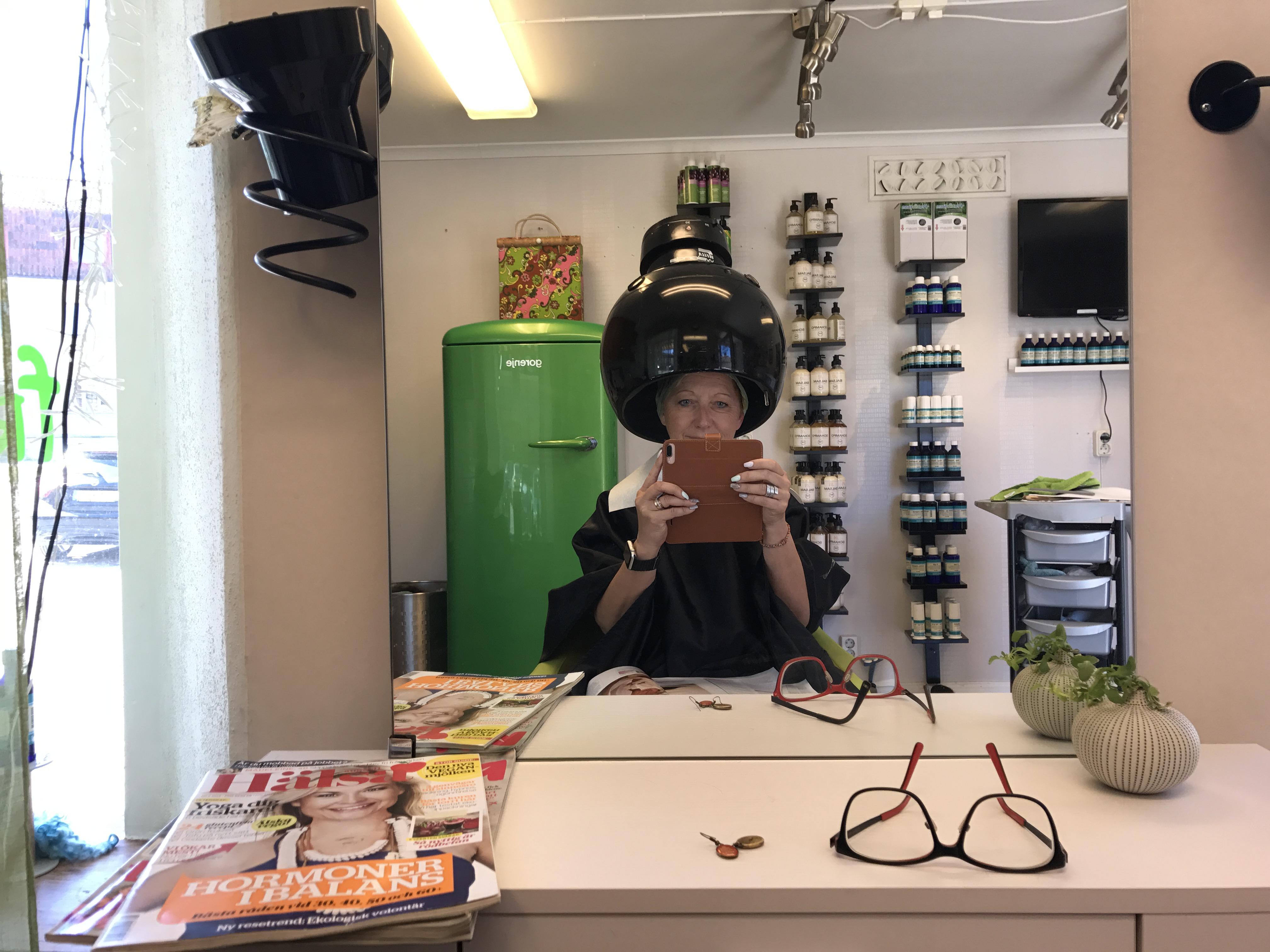 min gröna frisör