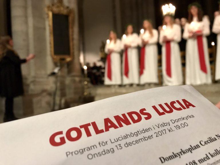 Gotlands Lucia från första parkett